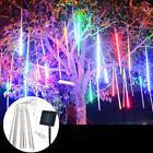 Meteor Shower Rain 8 Tube LED Solar String Lights Christmas