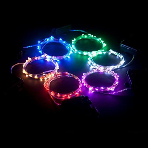 RTGS 60 LEDs String Lights 20 Feet Silver Color Outdoor with Box and