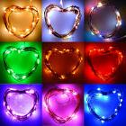 Multi-Color 20 LED 2M Battery Powered Copper Wire String Fai