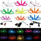 Neon LED Light EL Wire String Strip Rope Tube Car Dance Part