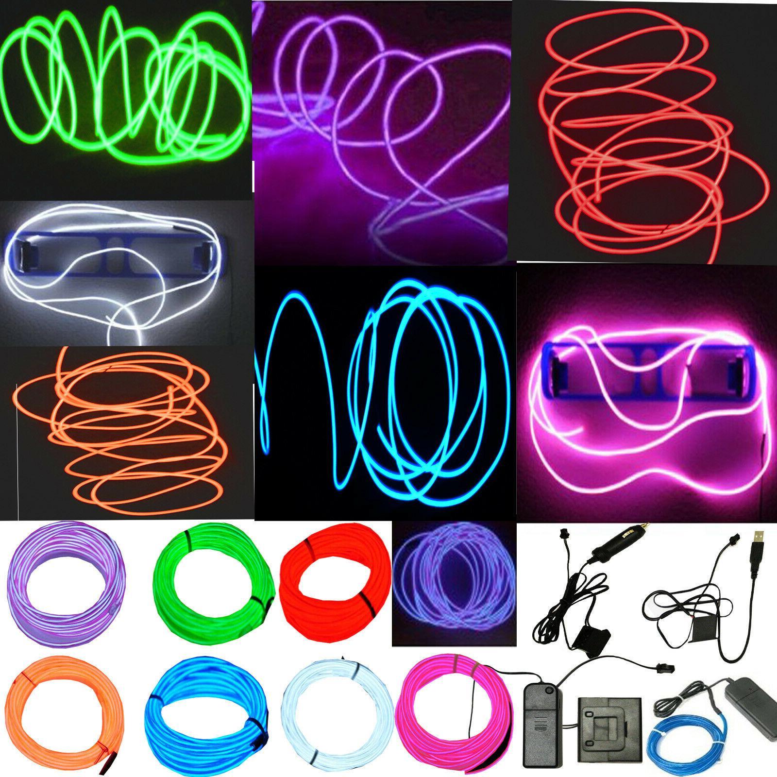 neon led light glow el wire string