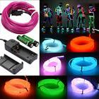 Neon LED Light Glow EL Wire String Strip Rope Tube Car Dance