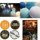 New design NAVY BLUE TONE cotton ball string lights Fairy We