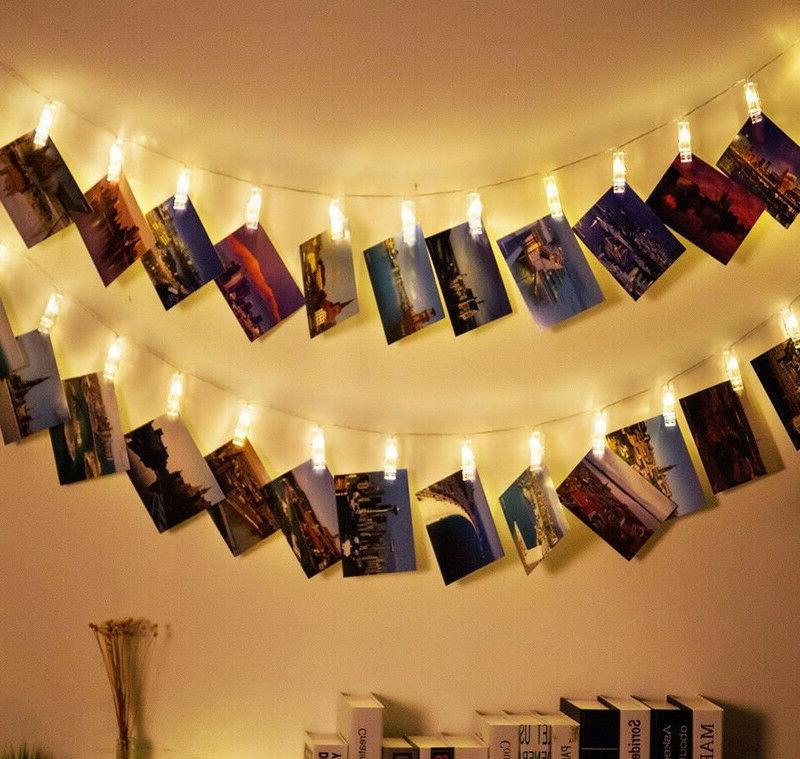 new LED Photo Clip String Lights Battery Operated for Bedroo