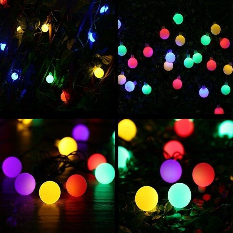 Outdoor 50 LED Solar Ball Lights Waterproof Colorful