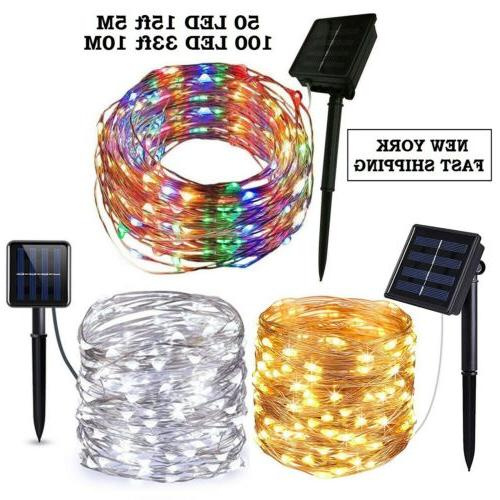 Outdoor Solar Powered 5M 50 10M 100 20M 200 LED Copper Wire