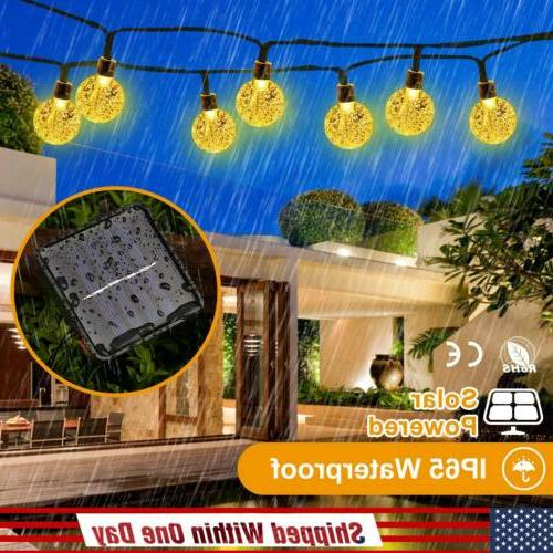 20ft 30LED Solar String Ball Lights Outdoor Waterproof 8Mode