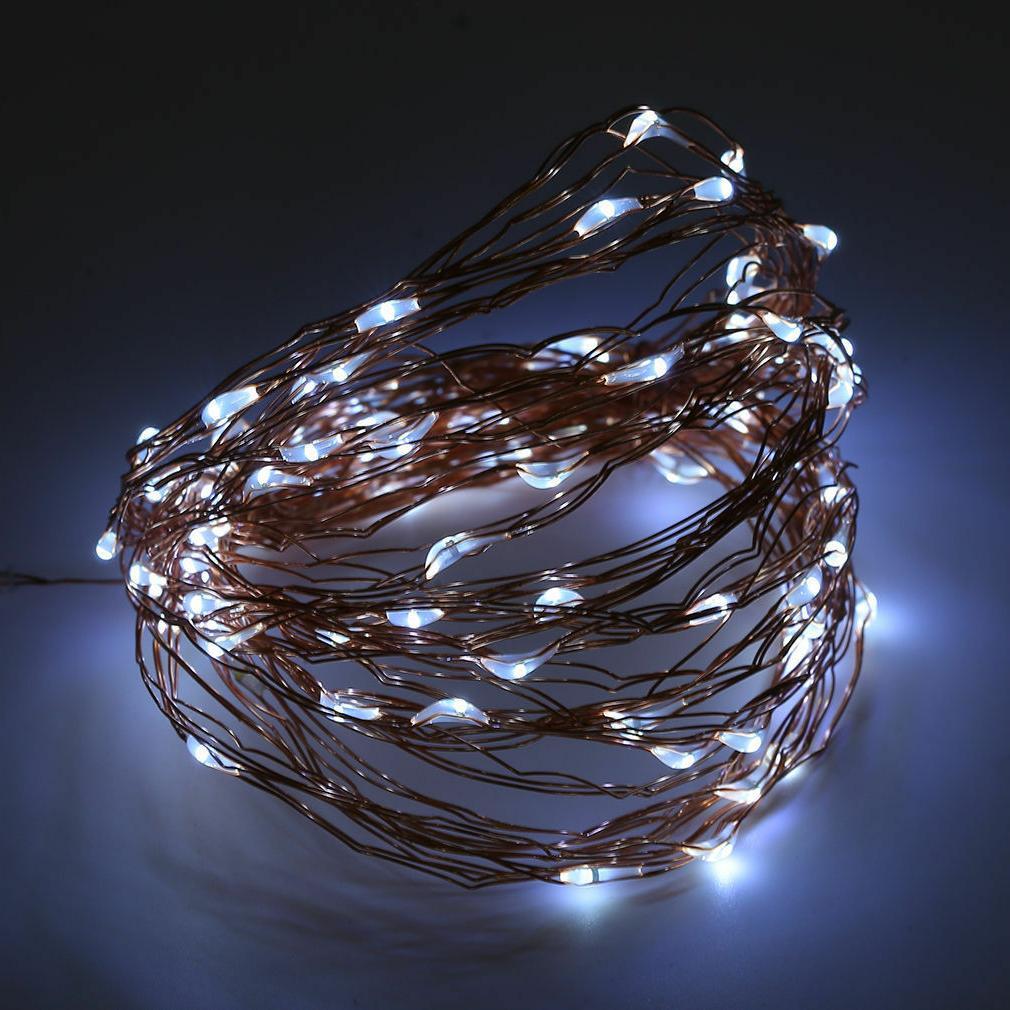 Outdoor Solar String Lights Fairy Garden Decor White