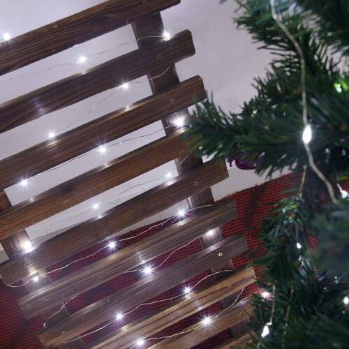 Outdoor Solar 100 LED Copper Fairy Light Garden White
