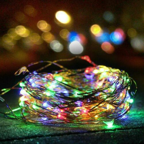 5M 10M Outdoor Solar Waterproof LED Copper Wire String