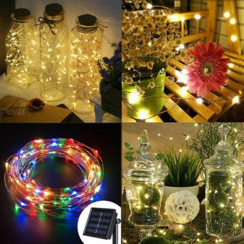 5M Solar String LED Copper Wire Light String