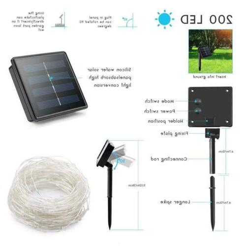 5M 10M Solar LED Copper Light String