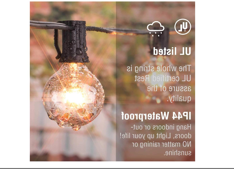 Outdoor Lights Globe Bulbs Garden Waterproof Lighting 25FT