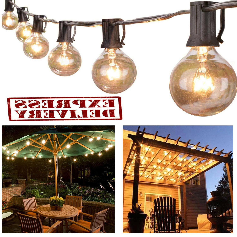 outdoor string lights g40 globe bulbs patio