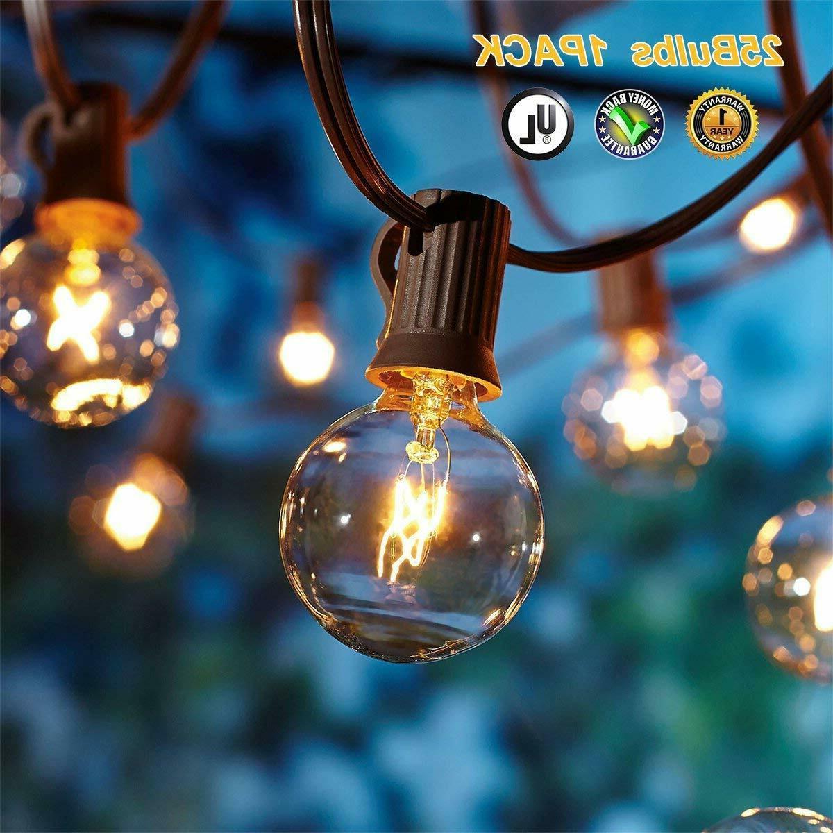 Outdoor 25 Globe Bulbs