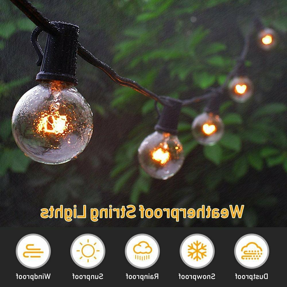 Outdoor String Yard Garden 25 G40 Globe Bulbs