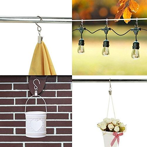 Party Light Pieces Hanging Clips Hook Clamp Curtain, String , Outdoor Indoor Party Home Decoration