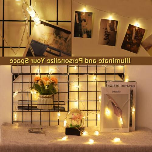 """50 LED String Lights with Remote 8 Modes Fairy Lights 24.6"""""""