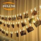 Photo Clips String Light, 20 LED Battery Powered Picture Dis