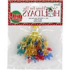 Darice 2428-37 Plastic Christmas Bulbs 8mm 50/Pkg-Multicolor