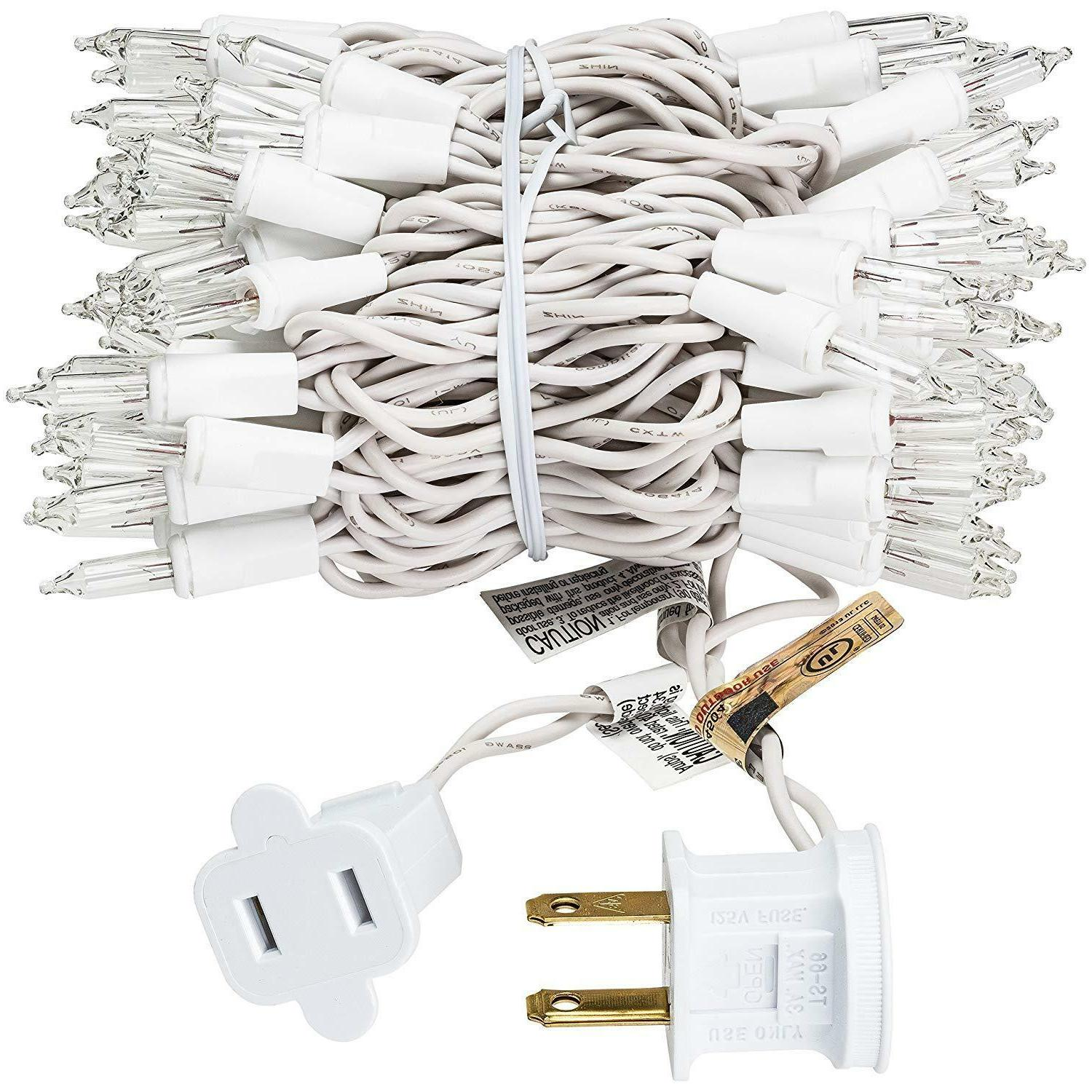 prextex christmas 100 clear white wire light