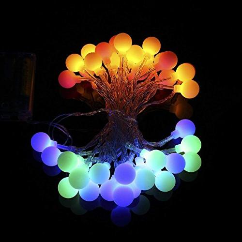 ALOVECO 14.8ft LED Ball 8 Modes, Battery Fairy Lights Bedroom, Wedding, Party