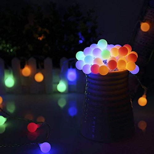 ALOVECO 14.8ft Ball Modes, Battery Powered Starry Fairy String Wedding, Party