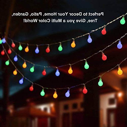 ALOVECO 14.8ft Ball Lights, Modes, Powered Fairy String for Bedroom, Garden, Christmas Wedding,