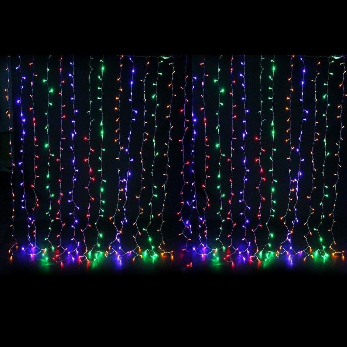 300 LED Curtain Xmas Wedding Party Perfect Holiday Blue