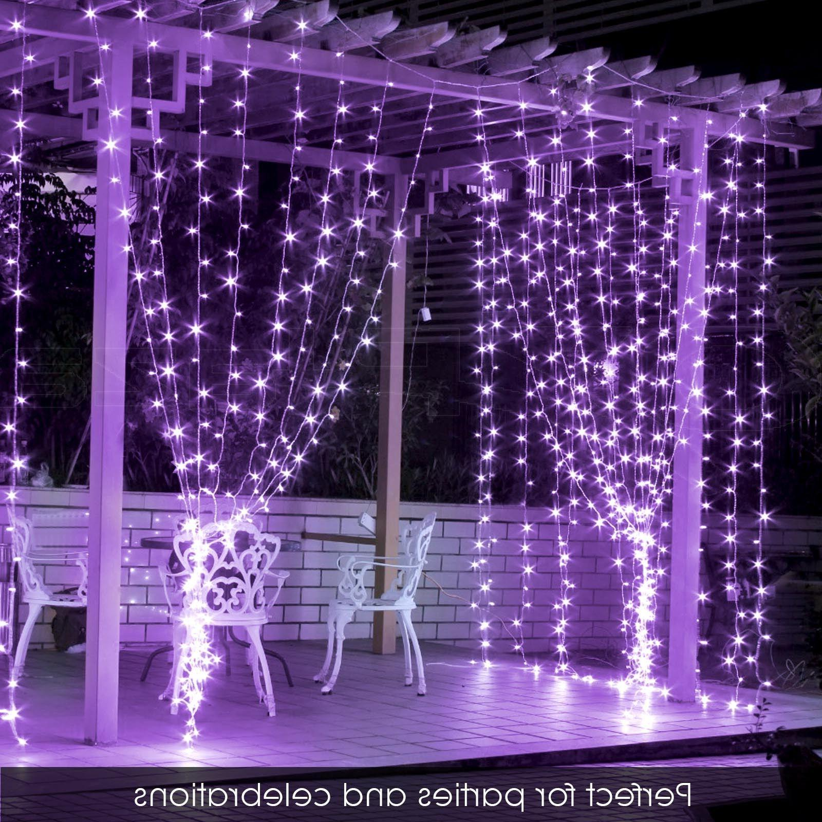 300 3m Curtain String Lights Wedding Perfect Purple