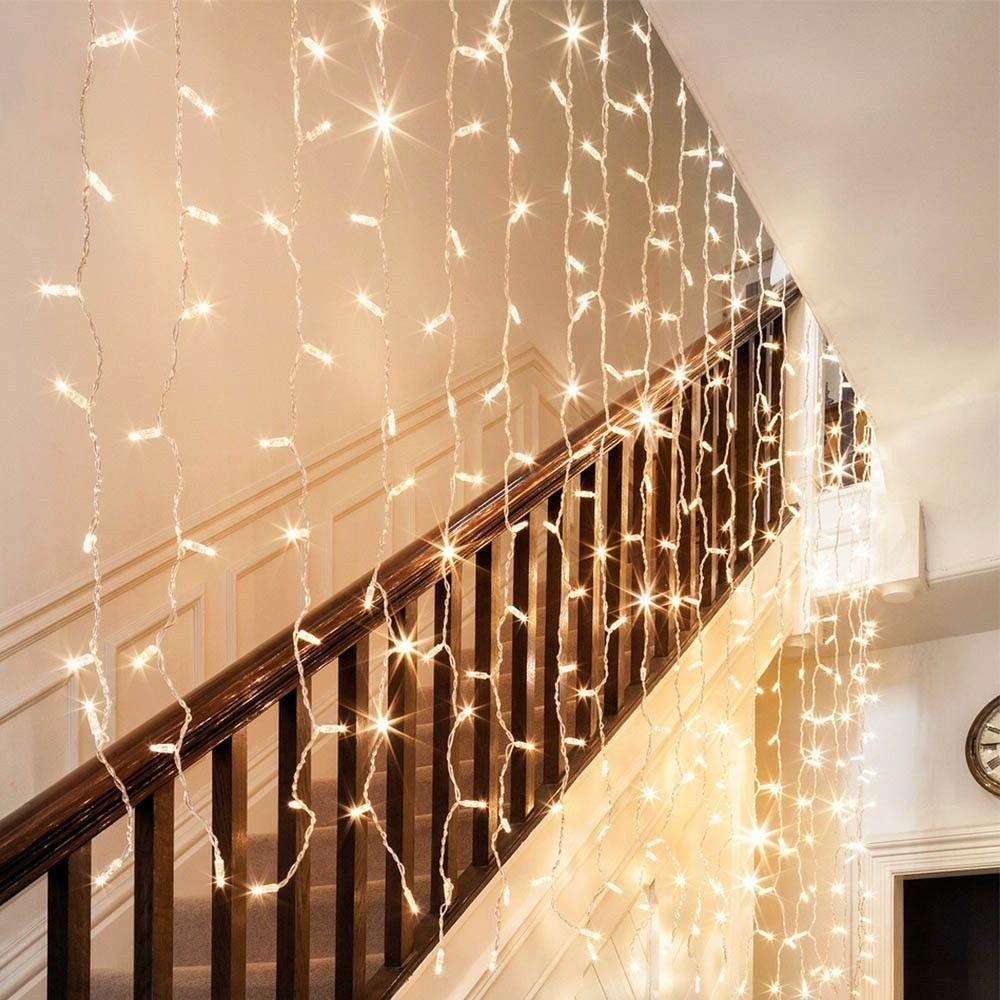300 LED Curtain String Lights Xmas Wedding Party Perfect Blue
