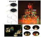 Rechargable Powered Solar Mason Jar Lights 10 LED Firefly St