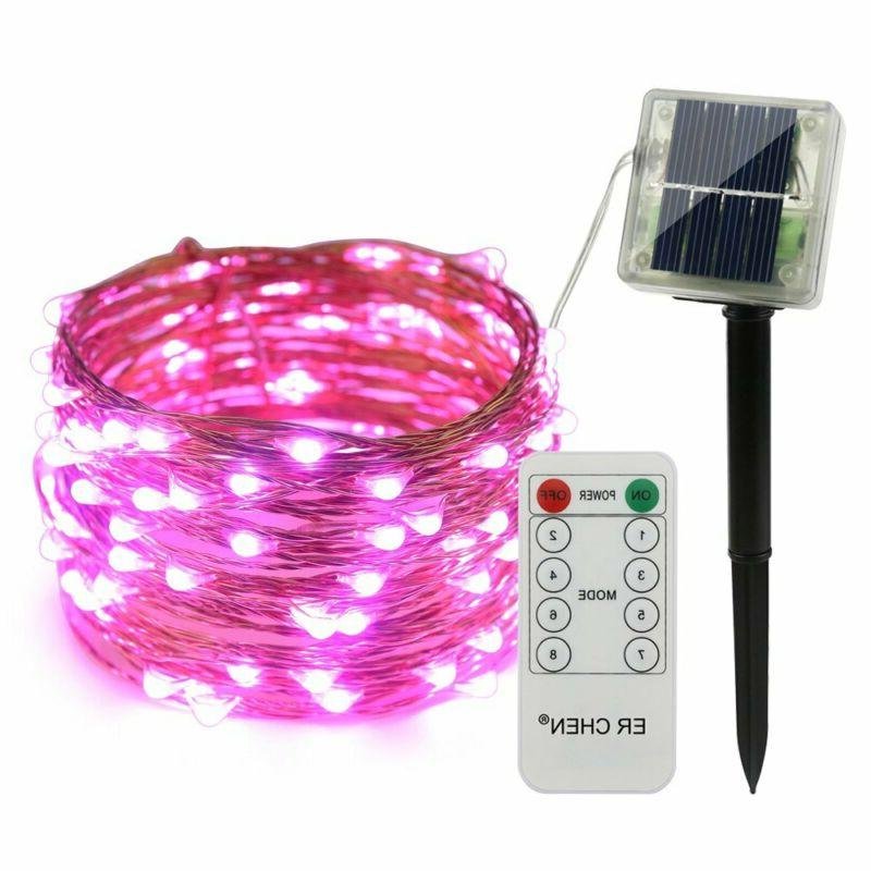 remote control solar powe led string lights