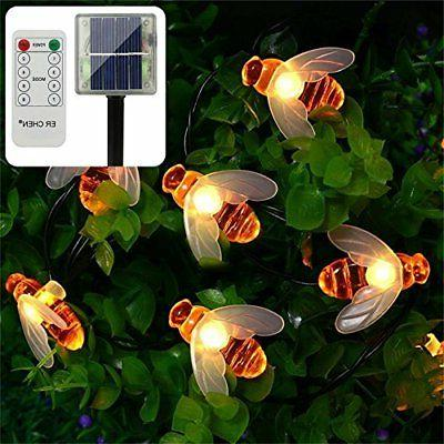 remote control solar powered string lights 30