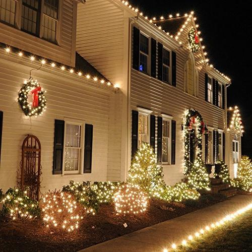 ErChen Control Powered Led String 165FT 500 Leds Copper Wire Outdoor Christmas Garden yard
