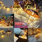 Retro Iron Metal Lampshade LED Fairy String Lights Xmas Wedd