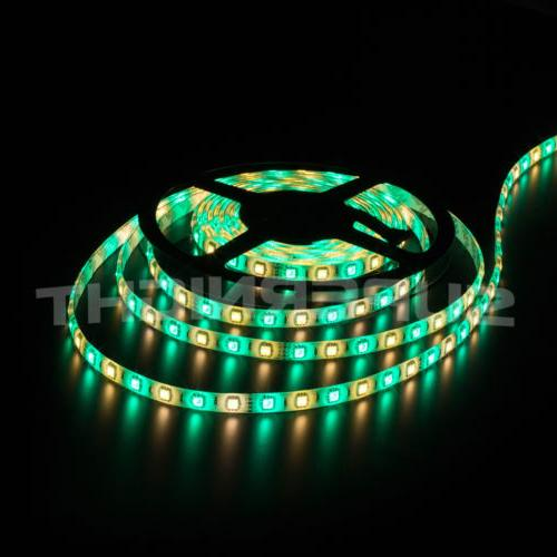 SUPERNIGHT® RGBW SMD RGB+White 300 LEDs Strip & IR Remote & Power
