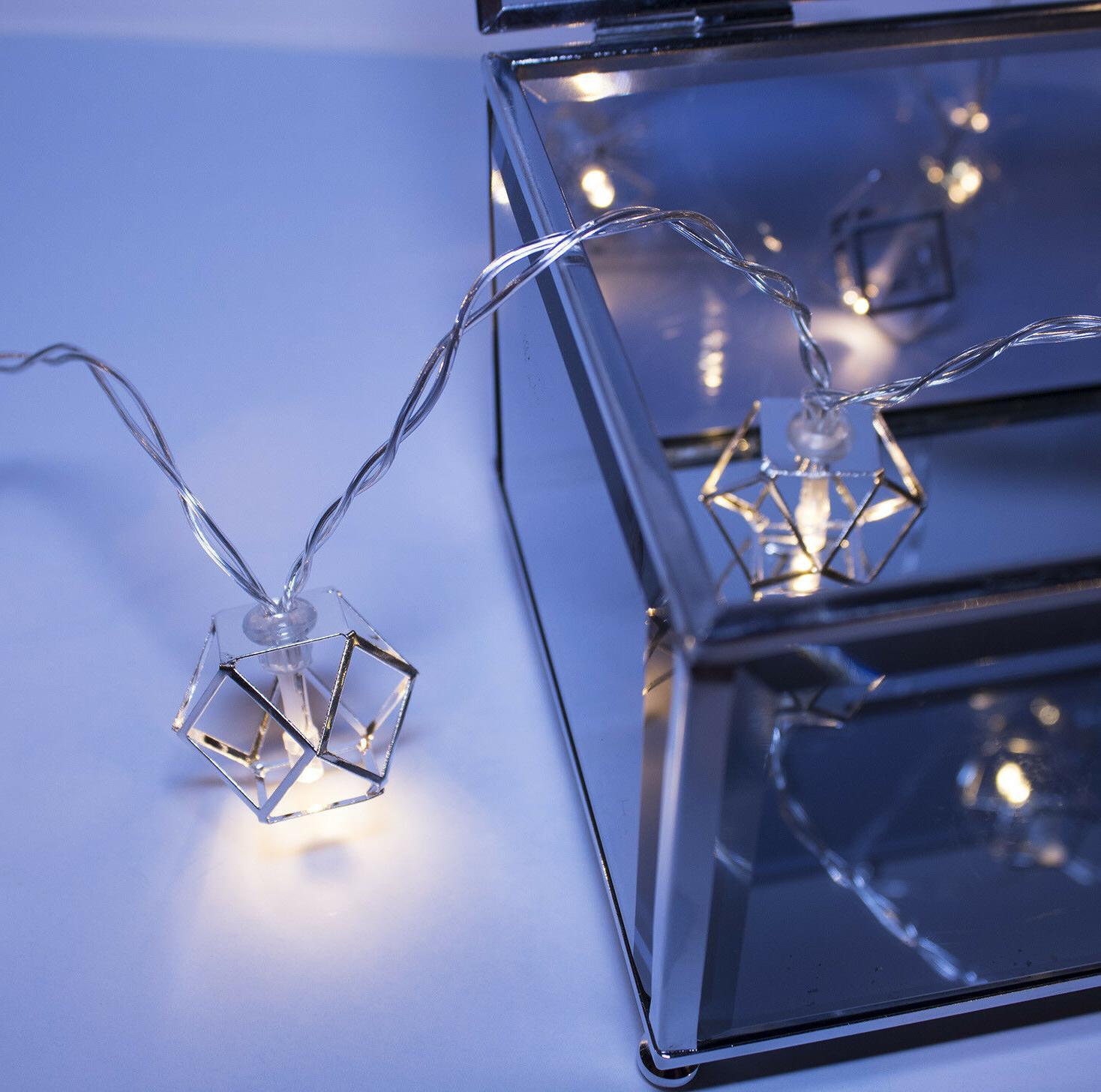 Silver Pendant String Lights 20 LED Home Dorm