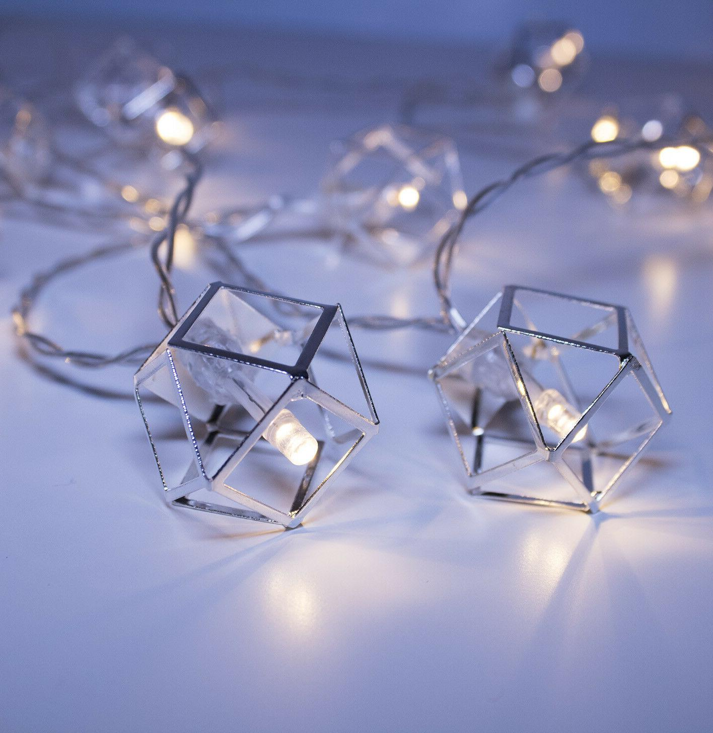 Silver Pendant String Lights 20 LED Boho Chic Home Decor Apa