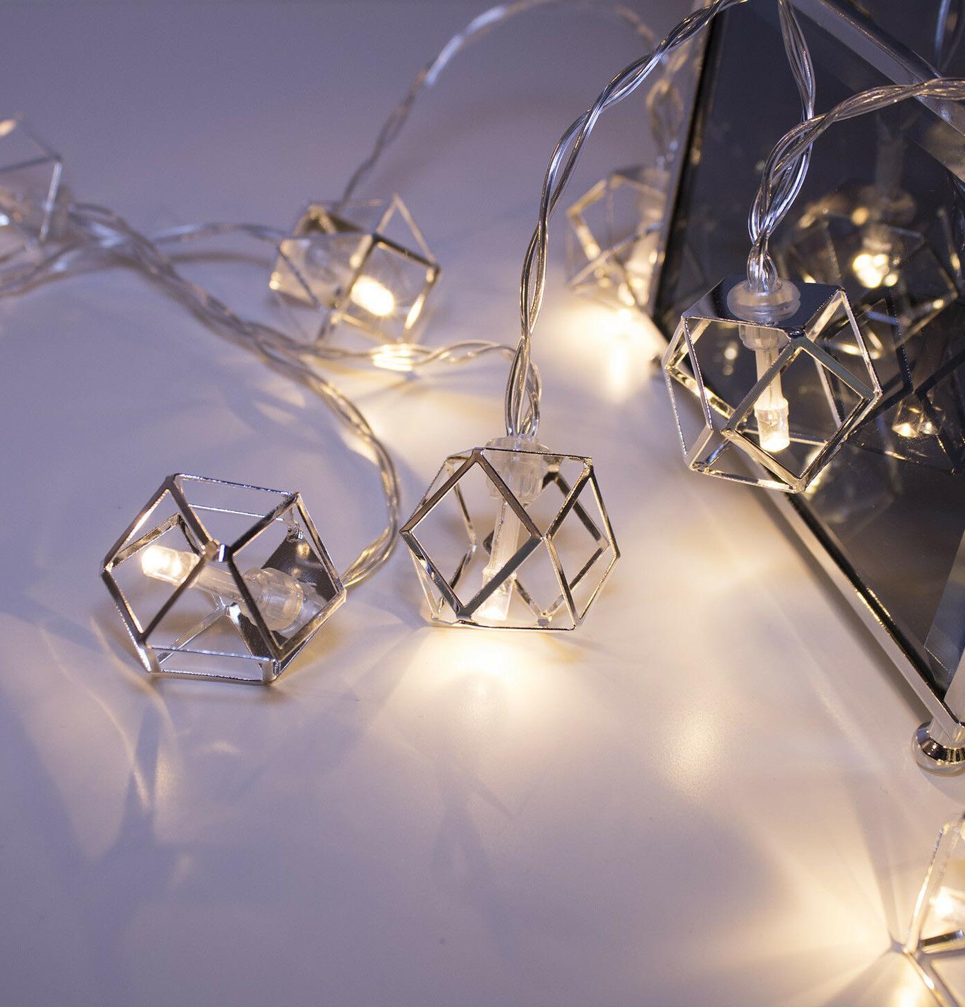 Silver Pendant 20 LED Home Dorm