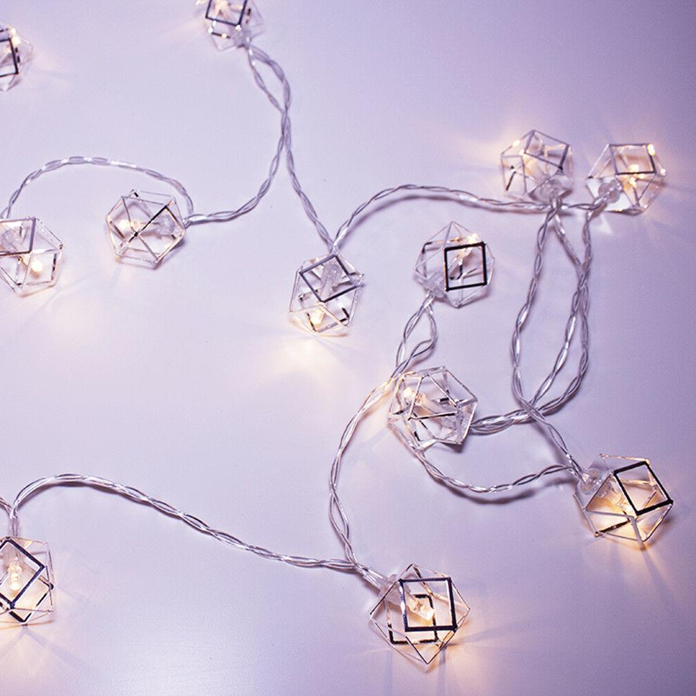 Silver Lights 20 LED Home Decor Nursery Dorm
