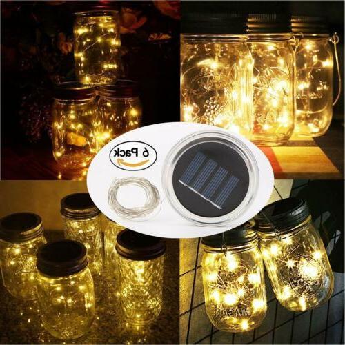 solar mason jar lids fairy string lights