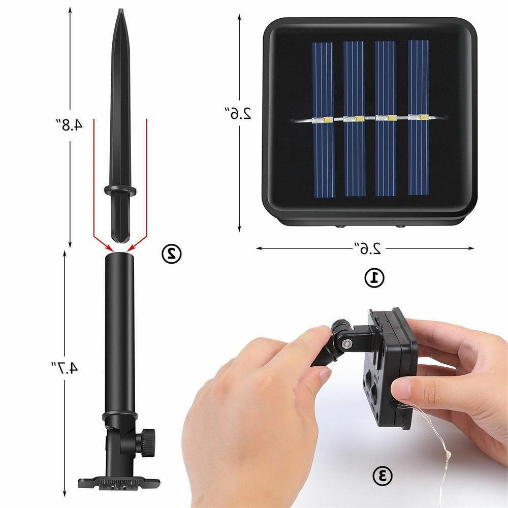 Solar power 33FT 100 LED Copper Outdoor String Light