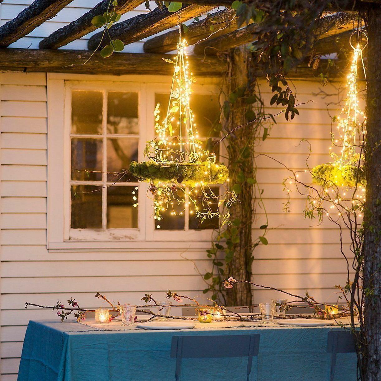 Solar power 100 LED Outdoor Light