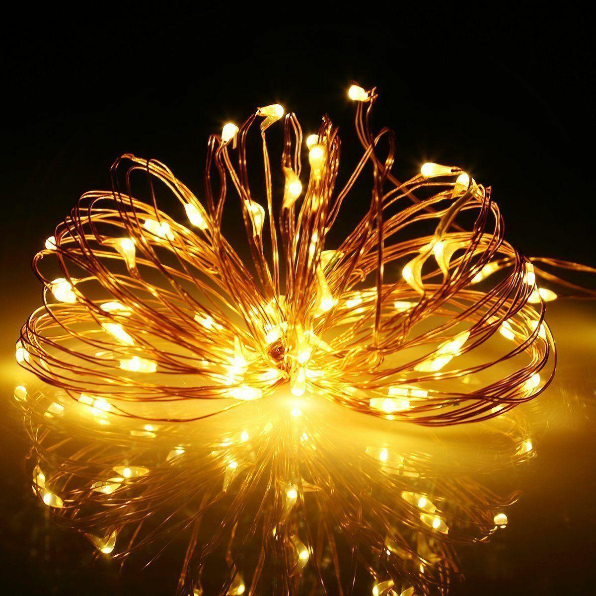 Solar Lights 100 Wire 33 ft. Waterproof Outdoor Fairy