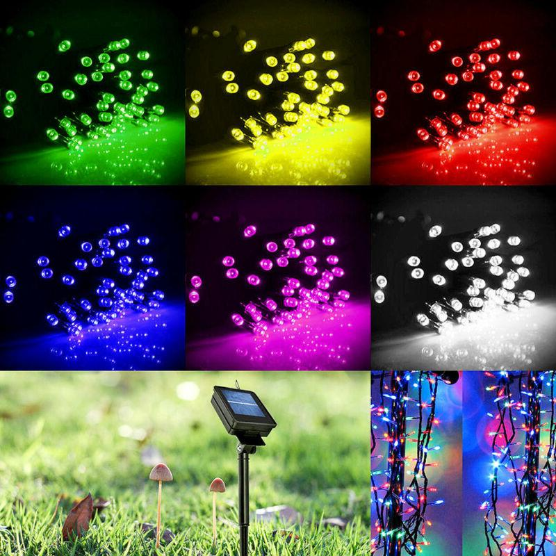 Solar Powered 100/200/300 LED String Fairy Lights Garden Out