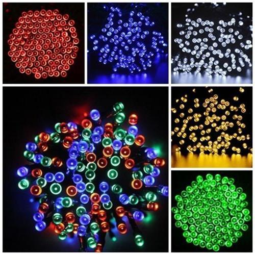 solar powered 100 200 leds string fairy