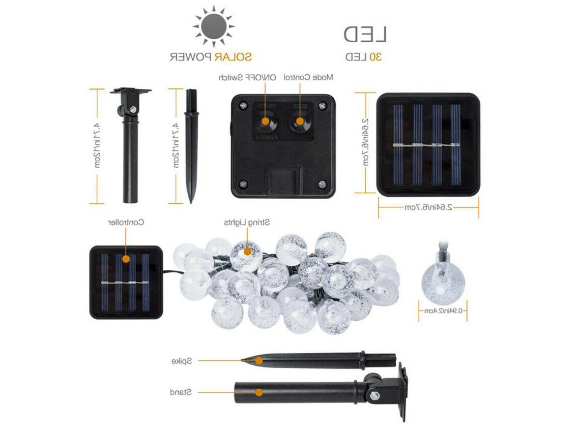 Solar Powered 30 String Waterproof