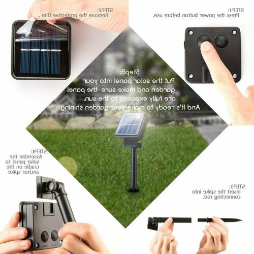Solar Powered 30 String Light Yard Outdoor Waterproof