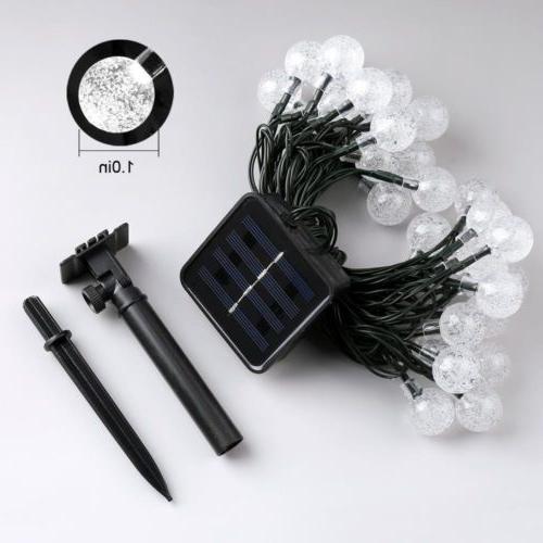 Solar LED String Garden Yard Decor Lamp Outdoor Waterproof